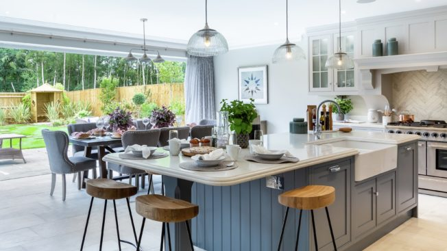 The Open Plan Style Transforms This Area With Use Of Elegant Lighting And A Huge Sliding Window Door Which Makes Room Look Even Bigger